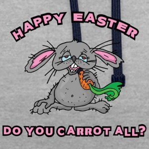 Happy Easter Do You Carrot All - Contrast Colour Hoodie
