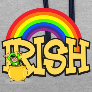 IRISH Pot Of Gold - Kontrast-hettegenser