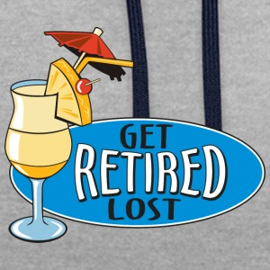 Retraité Get Lost! - Sweat-shirt contraste