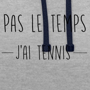 pas le temps tennis - Sweat-shirt contraste