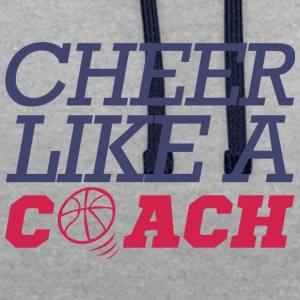 Coach / Trainer: Cheer Like A Coach - Contrast hoodie