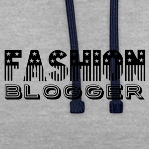 Fashion Blogger - Contrast hoodie