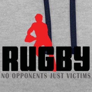 Rugby No Opponents Just Victims - Contrast Colour Hoodie