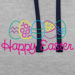 Easter Happy Easter Eggs - Contrast Colour Hoodie