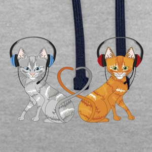 chats t'chat - Sweat-shirt contraste