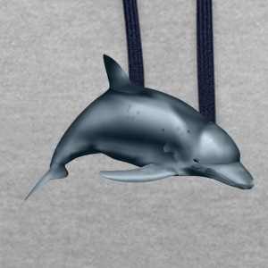 Dolphin - Contrast Colour Hoodie