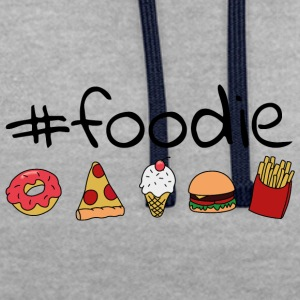 #foodie - Sweat-shirt contraste