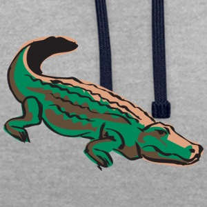 mal crocodile - Sweat-shirt contraste