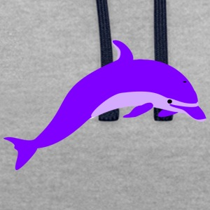 Purple dolphin - Contrast Colour Hoodie