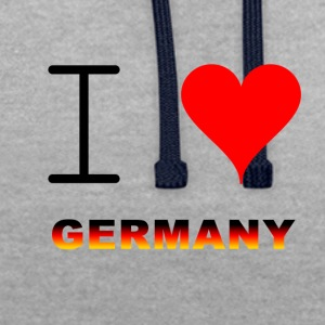 I LOVE GERMANY COLLECTION - Contrast Colour Hoodie