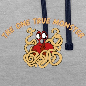 the one true monster cartoon - Contrast Colour Hoodie