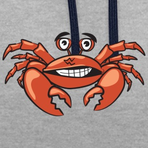 crabe rouge fou - Sweat-shirt contraste