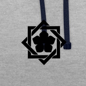 "Japanese coat of arms ""Kamon"" - Contrast Colour Hoodie"