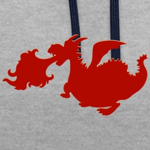 Dragon - Contrast Colour Hoodie