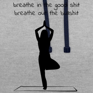 Yoga - Breathe in - Breathe out - Contrast Colour Hoodie