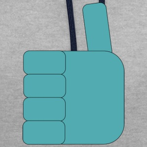 Thumbs_up_Robo - Contrast Colour Hoodie