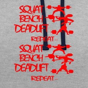 REPEAT Powerlifting - Contrast Colour Hoodie