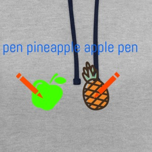 its pineapple - Contrast Colour Hoodie