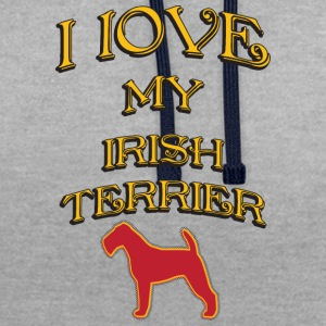 I LOVE MY DOG Irish Terrier - Contrast Colour Hoodie