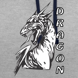 Angry dragon 2 - Contrast hoodie