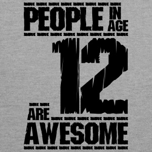 PEOPLE IN AGE 12 ARE AWESOME - Contrast Colour Hoodie