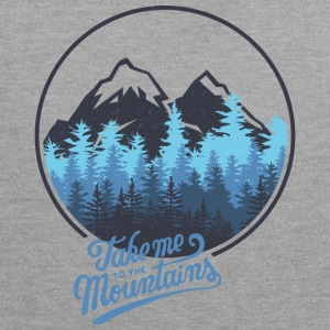 Take me to the mountains - berg - Kontrast-Hoodie