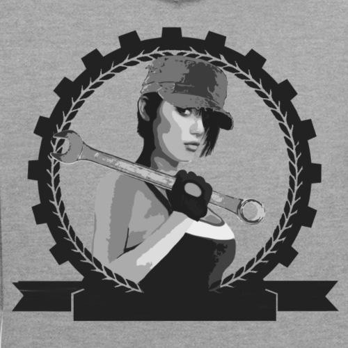 Arbeitermädchen indi - Kontrast-Hoodie
