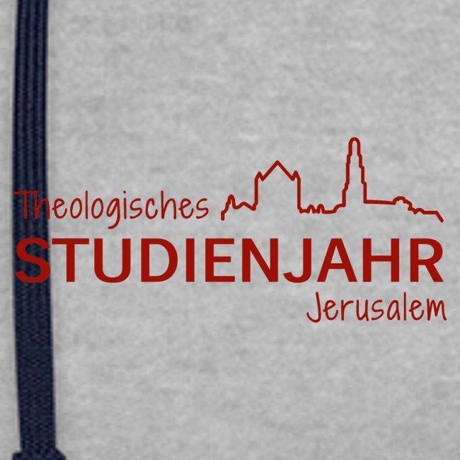 Studienjahrslinie vorne und Hashtag (weiß) hinten