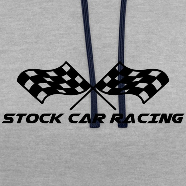 Stock Car Racing chequered flag, black