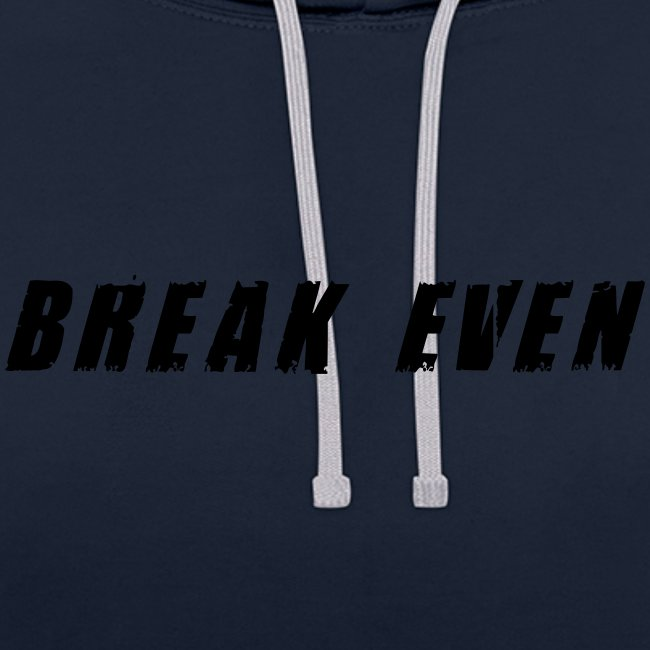 Break Even Black tekst
