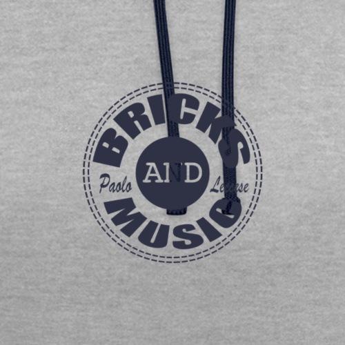 logo Bricks and Music BLUE - Felpa con cappuccio bicromatica