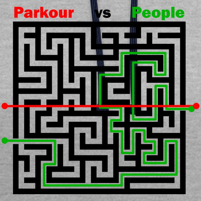 Parkour Maze parkour vs people
