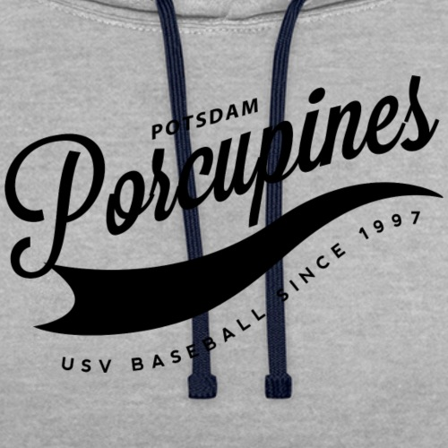 vintage porcupines - Kontrast-Hoodie