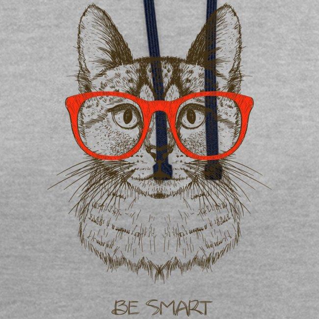Vorschau: Cat Hipster - Kontrast-Hoodie