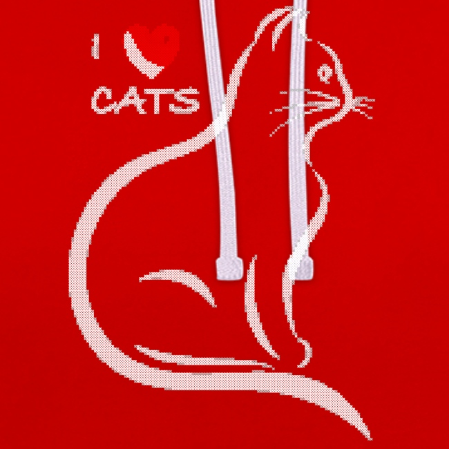 I love cats. Light stitched design.