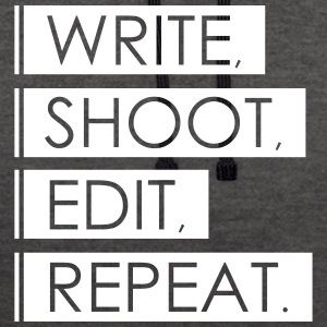 Write, Shoot, Edit, Repeat - Contrast Colour Hoodie
