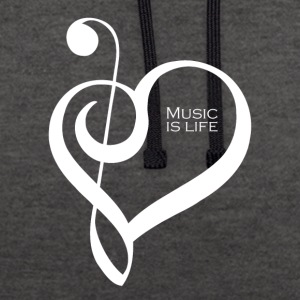 Music is life ! - Sweat-shirt contraste