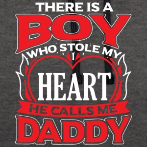 DADDY - THERE IS A BOY WHO STOLE MY HEART - Contrast Colour Hoodie