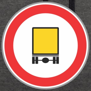Road sign yellow truck - Contrast Colour Hoodie