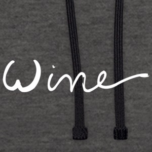 WINE art logo WHITE - Contrast Colour Hoodie