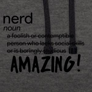 "Nerd / Nerds: Definition of ""Nerd"" - Contrast Colour Hoodie"