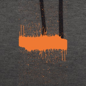 Orange brush Skizze - Kontrast-Hoodie