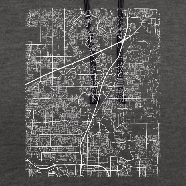 Minimal Allen city map and streets