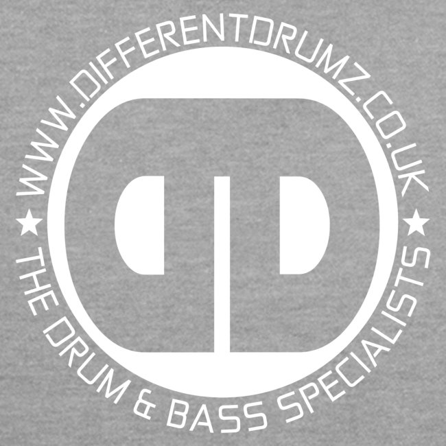 Different Drumz Front & Back Logo's | White
