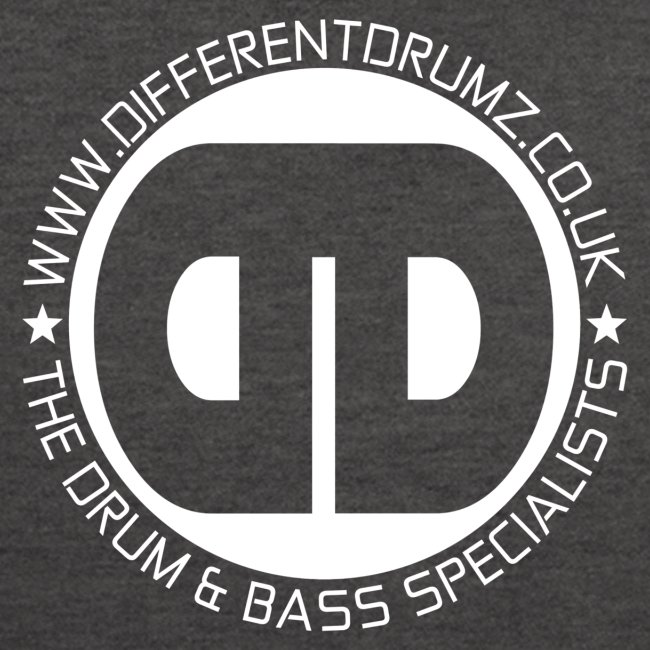 Different Drumz Front & Back Logo's   White