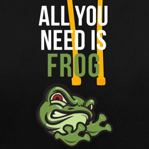 All You Need Is Frog <3 - Felpa con cappuccio bicromatica