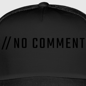 NO COMMENT - store bogstaver - Trucker Cap