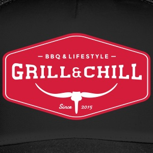 Grill and Chill / BBQ and Lifestyle Origin Logo - Trucker Cap