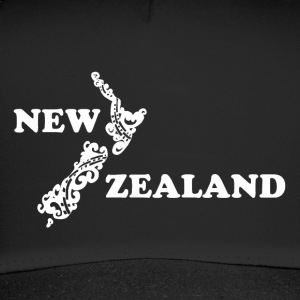 New Zealand: map and lettering in white - Trucker Cap