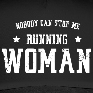 Nobody can stop me - running woman - Trucker Cap